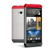 HTC One Double Dip Hard Shell Case Grey & Red HTCHCC840